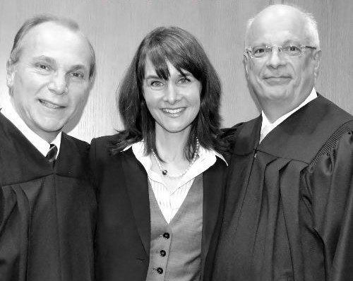Judge Raniolo, Nancy Levin, Esq. and Judge Lagonia work closely with Youth Court members to share their expertise and knowledge