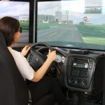 Teens at Save A Life use an interactive drunk driving simulator to experience how alcohol impairs driving skills.