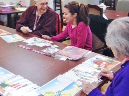 """Memories Matter"" Christina R. interacts with Alzheimer's patients at the Field Home Adult Day Care Center."